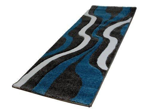 Acerto FRIESE3 40186 Rug 200 X 290 CM Expressive Design And Bright  Turquoise Wohnzimmerteppich Modern