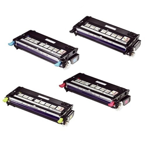 GLB © High Yield OEM Quality Xerox Phaser 6280 Toner Cartridges Set 106R01395 Black, 106R01392 Cyan, 106R01394 Yellow, 106R01393 Magenta Remanufactured in USA for use in Xerox Phaser 6280, Xerox Phaser 6280N, Xerox Phaser 6280DN Printers
