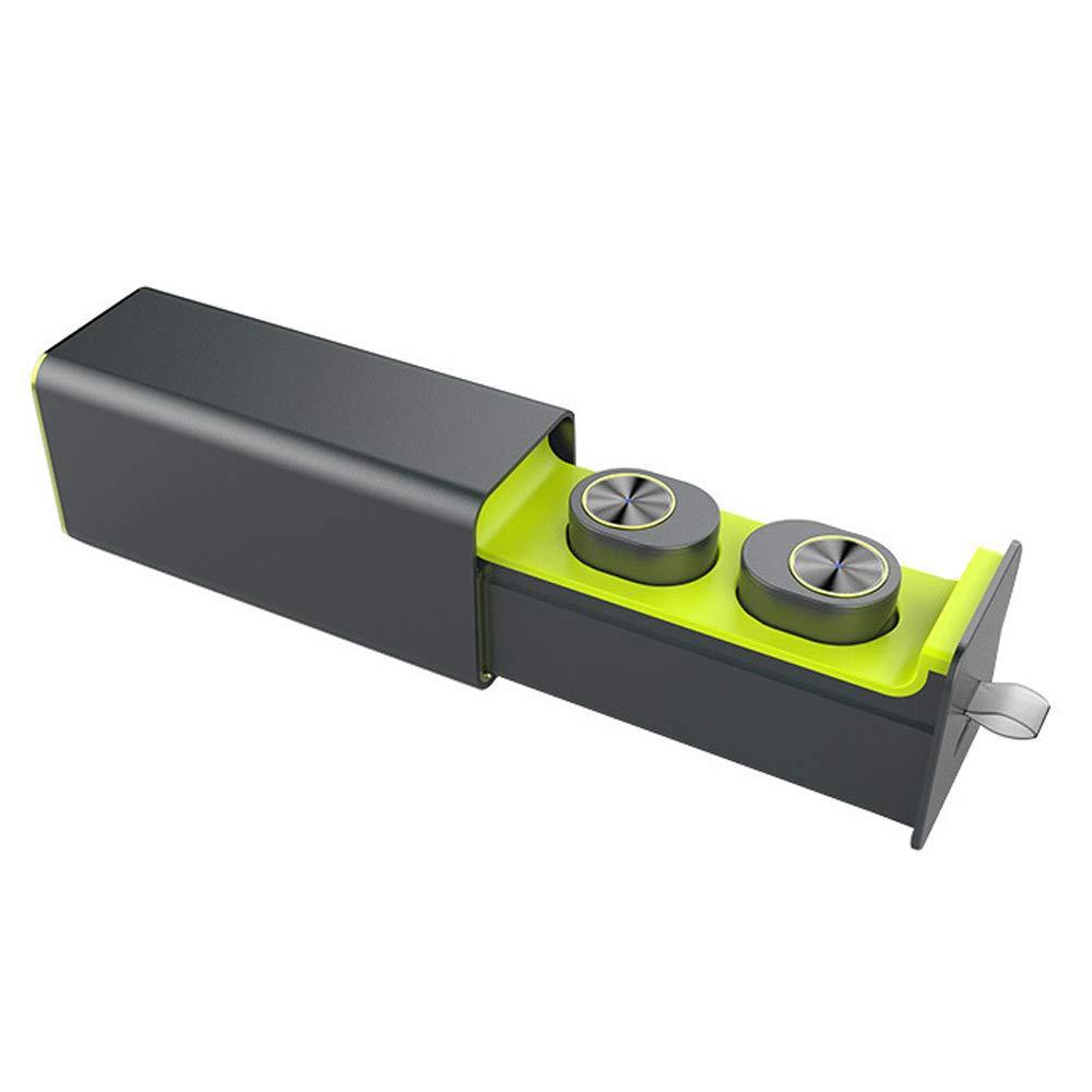 ワイヤレスヘッドフォン、ポータブルbluetooth 4.1ワイヤレスイヤフォンbluetoothイヤホンイヤホン車のヘッドセット付き450 mah充電ボックス強化コンフォートヘッドフォン B07SL4XC2R Green