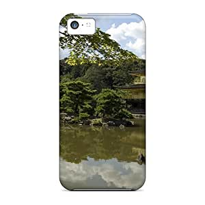5c Scratch-proof Protection Case Cover For Iphone/ Hot Golden Pavilion Phone Case