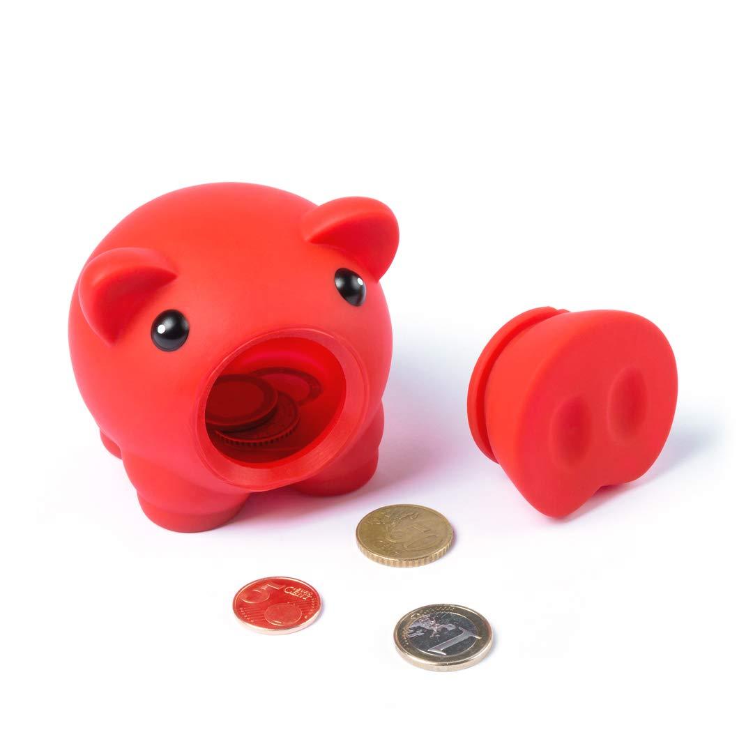 Lote DE 2 HUCHAS-Hucha cerdo con Acabado DE Goma-Colores Variados ni/ños y ni/ñas Se Pueden Elegir los Colores de los cerditos-Hucha cerdito de goma segura para los ni/ños-Regalo infantiles perfecto