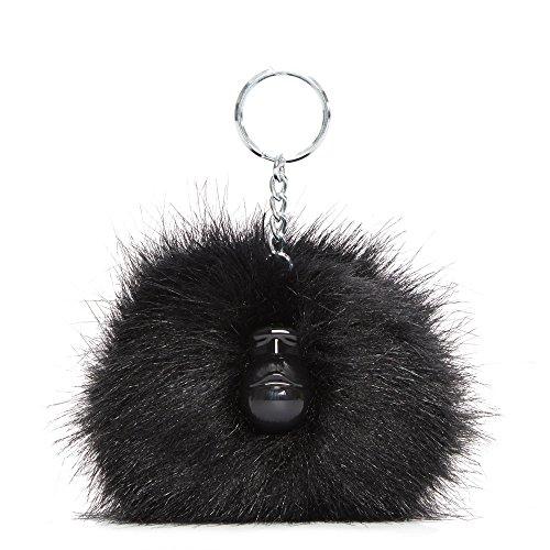 Kipling Pompom Monkey True Black ()