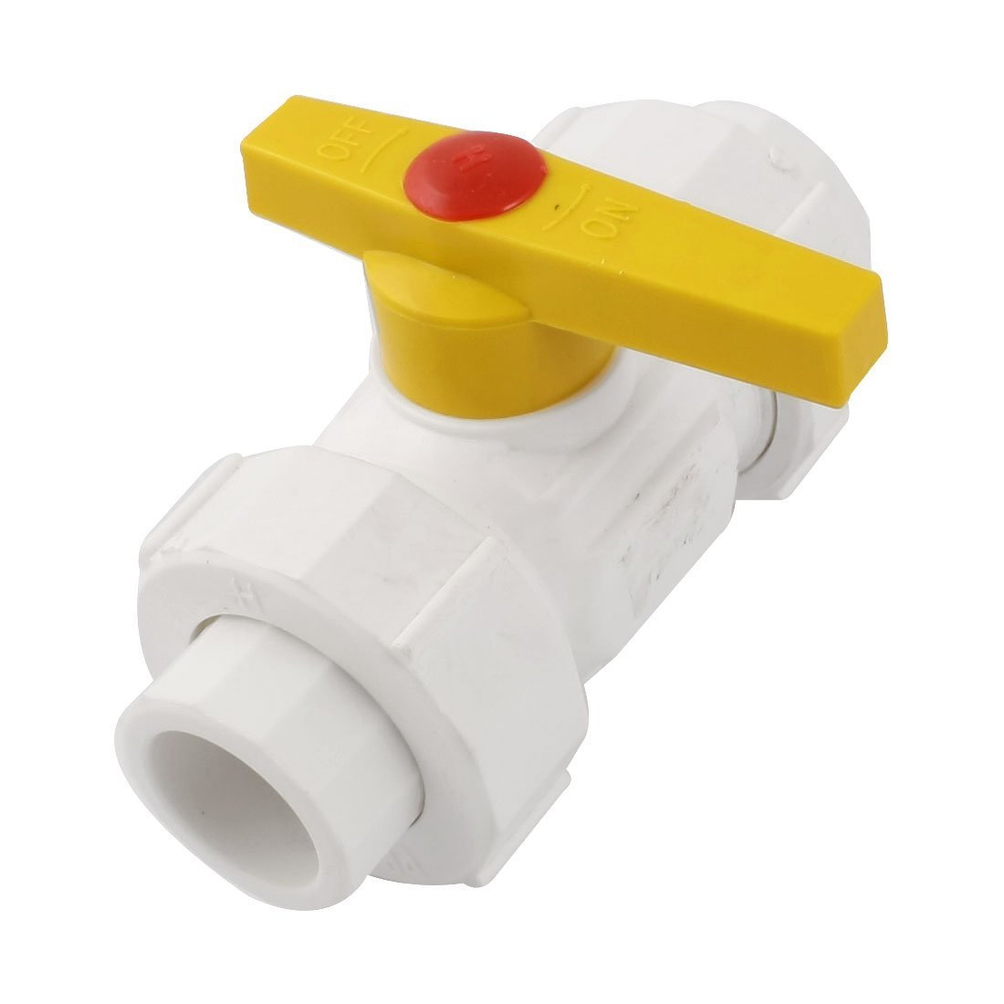 Water Supply 25mm to 25mm Ends 1/4 Turn PPR Ball Valve White Yellow DealMux DLM-B00PZX6N3K
