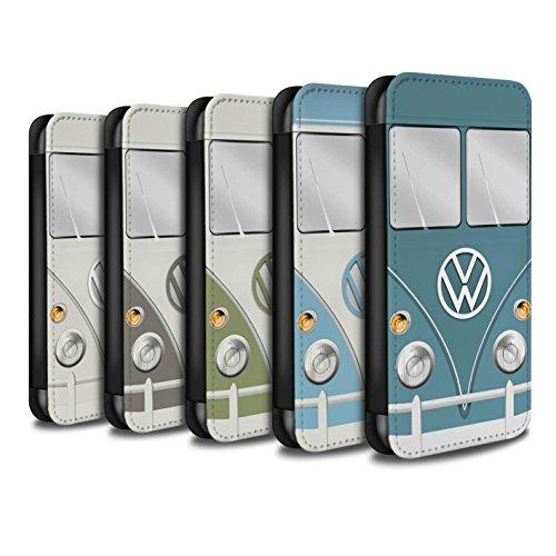 Stuff4 Coque/Etui/Housse Cuir PU Case/Cover pour Apple iPhone 8 Plus / Pack 7pcs Design / Rétro T1 Bus Campeur Collection