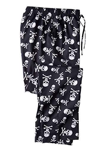 (KingSize Men's Big & Tall Flannel Novelty Pajama Pants, Skulls Tall-L)