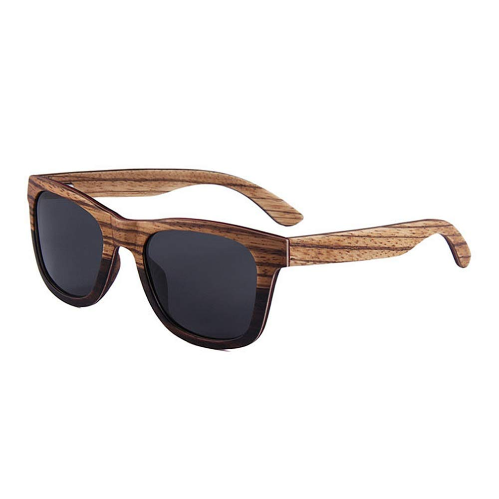 C2 Classic Sunglasses Wood UV Predection Sunglasses Polarized for Men and Women Bamboo Wooden Wayfarer Style Unisex Sports Sunglasses,Women Rectangular Sunglas (color   C3)