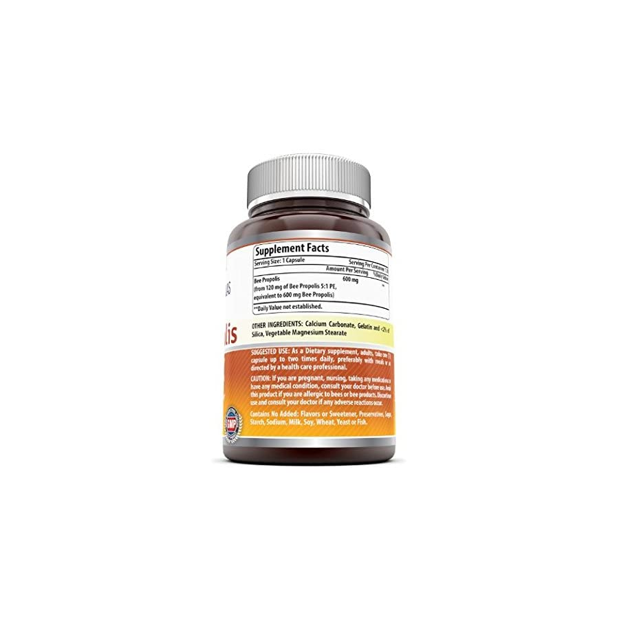 Amazing Nutrition Amazing Formulas Bee Propolis Dietary Supplement 600 mg 120 Capsules Antioxidant and Anti inflammatory Properties Supports Healthy Immune System