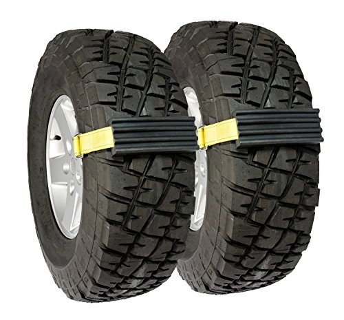 """Trac-Grabber – The """"Get Unstuck"""" Traction Solution for Trucks/SUV's – Emergency Rescue Device, Prevents Slipping in Snow, Sand & Mud – Chain or Snow Tire Alternative (Set of 2 Blocks & Straps)"""
