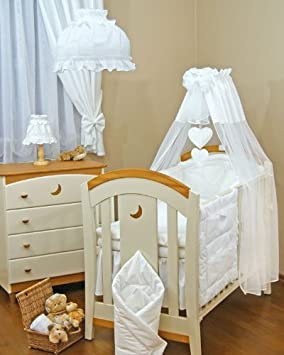 Lovely BABY COT/COTBED CANOPY DRAPE +CANOPY FREE STANDING ROD-WHITE & Lovely BABY COT/COTBED CANOPY DRAPE +CANOPY FREE STANDING ROD ...