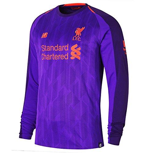 (New Balance 2018-2019 Liverpool Away Long Sleeve Shirt)