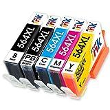 Starink 5 Color 564XL 564 XL Ink Cartridges Replacement,Hight Yield Compatible for Photosmart 5520 6520 7520 5510 6510 7510 7525 B8550 C6380 D7560 Premium C309a C410a C309g Officejet 4620 Deskjet 3520