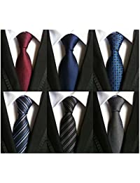 ac4ae49347d6 Lot 6 PCS Classic Men's Tie Silk Necktie Woven JACQUARD Neck Ties