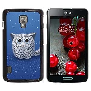 LECELL -- Funda protectora / Cubierta / Piel For LG Optimus L7 II P710 / L7X P714 -- Cute Snow Leopard --