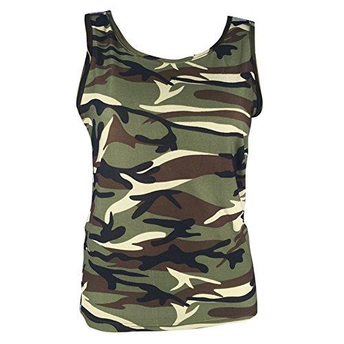 3XL Grand XXS Gris Vin Camouflage Quotidien Rose Tops Bleu Col Violet Sport Rond Vert Tshirts Blouses Femmes Sans Taille Manches Yying Vert Dcontracte Gilets 4nU14vqRw