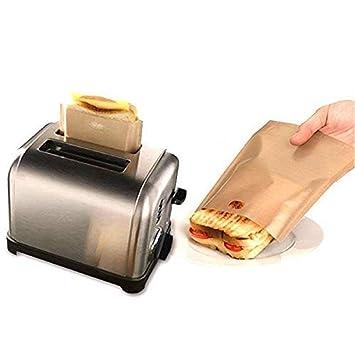 fellibay antiadherente bolsa de tostadora resistente al ...