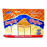 (Pack of 24, 480 Ct) Colombina Wafer Cookies Sugar Wafer, Vanilla
