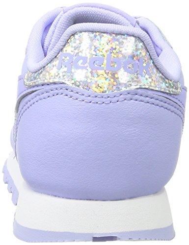 De Classic Pastel White Niñas Zapatillas Reebok Morado lilac Running Leather Glow Para qwIETd
