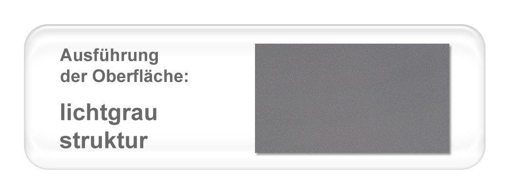 expendio hochwertiges Metallbett Lucie komplett, Varianten, Bett + Lattenrost + Matratze, Jugendbett Doppelbett Ehebett, Liegefläche 160 x 200 cm, Farben lichtgrau Struktur Lichtgrau Struktur 160 x 200 cm