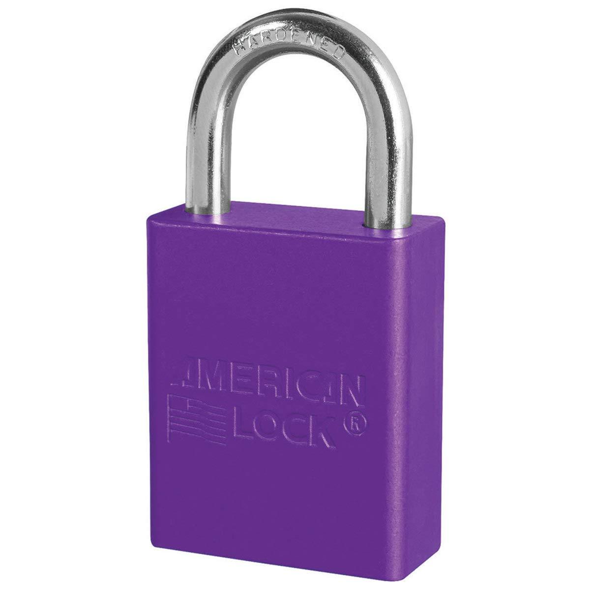 American Lock Purple Anodized Aluminum Lifeguard 6 Pin Tumbler Padlock Boron Alloy Shackle