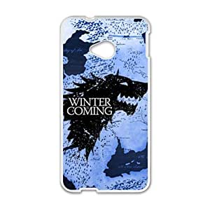 Winter Coming White htc m7 case by rushername