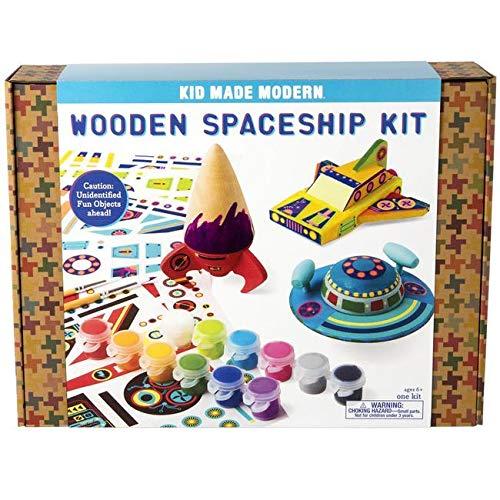 Kid Made Modern Wooden Spaceship Kit - Kids Arts & Crafts Toys