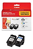Canon PG-210 XL and CL-211 XL Ink and Glossy Photo Paper Plus Re-manufactured Set, 4 Cartridges Total, Combo Pack (2973B004-RC210211XLVB-2)