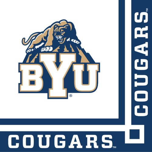 Creative Converting 20 Count Byu Cougars Beverage Napkins