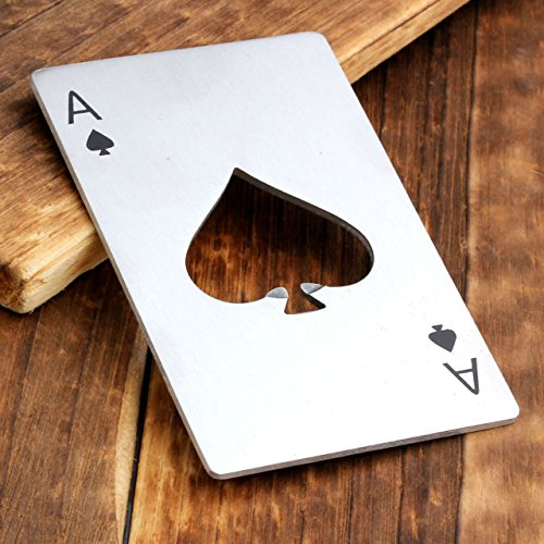 Ace Wine - CozyCabin Practical Wine Wine Bottle Opener Beer Funny Styles-Stainless Steel (Ace of Spades)