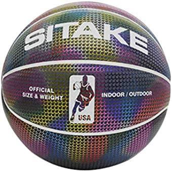 Finelyty Holográfica Brillante Reflectante Baloncesto ...