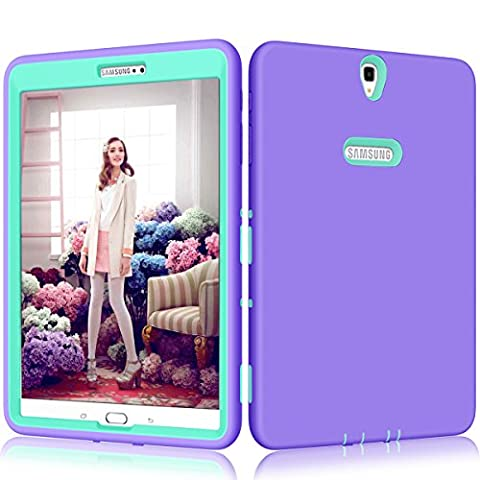 Galaxy Tab S3 9.7 Case, Jeccy 3in1 Full-body Shock Proof Hybrid Heavy Duty Armor Defender Protective Case, Silicone Skin Hard Plastic Case for Samsung Galaxy Tab S3 9.7-Inch SM-T820 / (Galaxy S3 Straight Talk New)