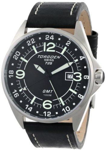Torgoen Swiss Men's T25102 T25 GMT Stainless-Steel Date Aviation Watch