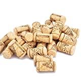 "Enkrio Wine Cork New Agglomerated Corks Natural Straight Corks Stopper for Bottling of Wines or Bulk Craft Corks 1-3/5"" x 4/5"" (Pack of 100)"