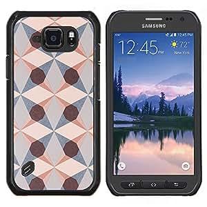 Stuss Case / Funda Carcasa protectora - Estructura Geométrica Patrón Arte Diamond - Samsung Galaxy S6 Active G890A