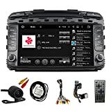 TLTek 8 inch HD 1024*600 Muti-touch Screen Car GPS Navigation System For Kia Sorento 2016 2017 Android DVD Player+Backup Camera+North America Map