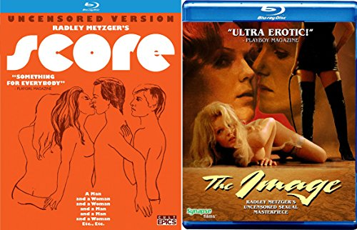 Radley Metzger's Score (Uncensored Version) and The Image Blu-ray Set Cult 2-Movie Bundle - Case Radley Glasses