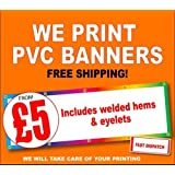 PVC BANNERS OUTDOOR HEAVY DUTY VINYL BANNER ADVERTISING SIGN DISPLAY QUALITY (2ft X 6ft)