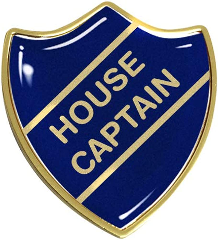 House Captain Gel Domed School Shield Badge