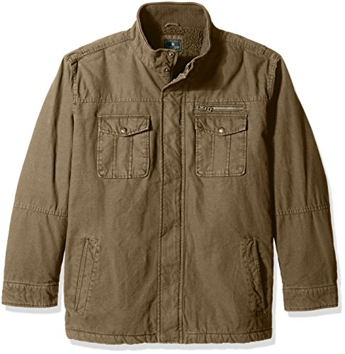 G.H. Bass & Co. Men's Big and Tall Solid Field Jacket, Khaki, 2X-Large Big