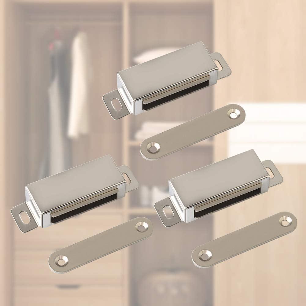 25 kg halten magnetische Verschl/üsse Wie abgebildet Edelstahl T/ürmagnet f/ür K/üche Kleiderschrank Magnet T/ürschlie/ßer Schrank T/ürschlie/ßer 3er-Pack 3 St/ück Magnetverschl/üsse f/ür Schrankt/üren