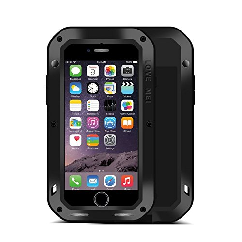 Original Love MEI Outdoor Metall Bumper Hülle Case Cover für Apple iPhone 7 4.7 Schutzhülle Backcover hochwertig Premium Schwarz