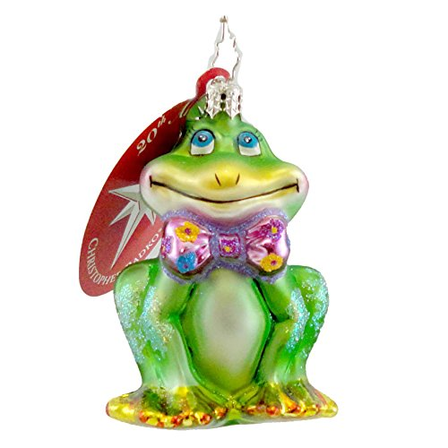 Christopher Radko FROGGIE EYES GEM Blown Glass Ornament Little Gem Spring