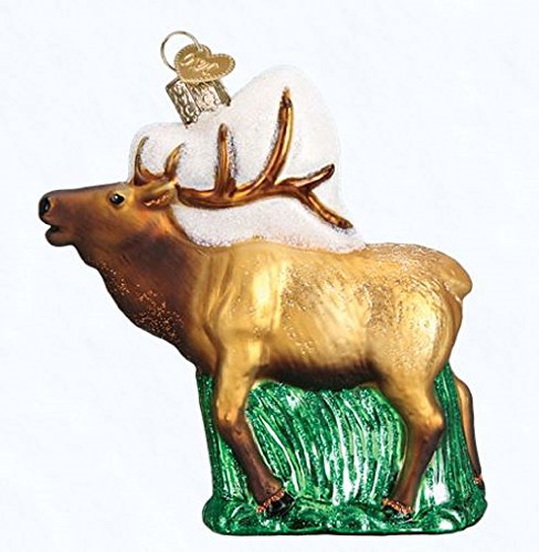 (Old World Christmas Glass Blown Ornament Elk (12502))
