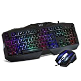 Rii RM400 104 Key LED Backlit Gaming Mouse Gaming Keyboard Combo Set For Mac and PC