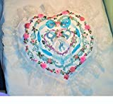 Bridal Ring Pillow Handmade in Ribbon & Stump Embroidery with Quality Organza, Beads, Ribbon and Lace.ONE OF A KIND!