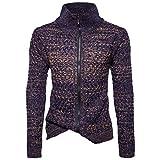kemilove Men's Long Sleeve Zipper Sport Sweatshirt Solid Coat Outwear