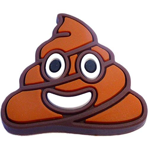Poop Emoji Rubber Charm Jibbitz Croc Style