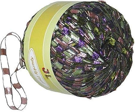 Sparkly Trail Ladder Trellis Yarn col 719 olive multi free shipping
