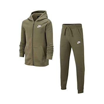 Nike Sportswear Chándal, Niños, Medium Olive/Medium Olive/White ...