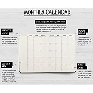 Best Undated Daily Weekly & Monthly Planner with Flexible Structure. A5 Compact Size Black Hardcover Notebook (5.8 x 8.5 in) Premium Design Bullet Journal. Smooth Black Leather Personal Organizer