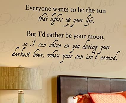 Amazoncom Everyone Wants To Be The Sun Moon Love Bedroom Family